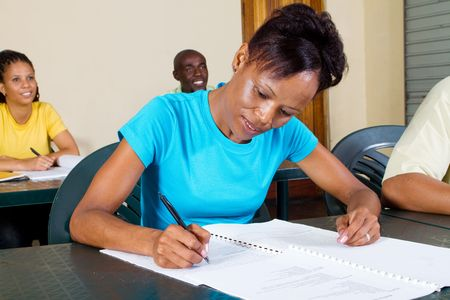 adult african american students Stock Photo