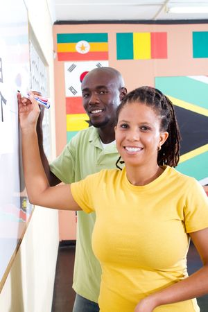 african adult students photo