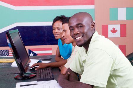 american african: African american computer studio studenti