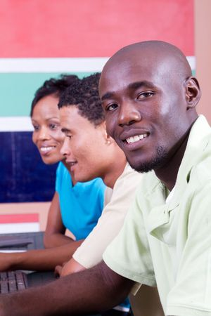 happy african adult students Stock Photo - 6639021