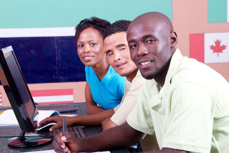 group of adult african students in classroom Stock Photo - 6639037