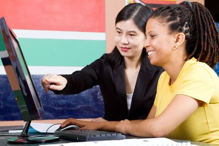 tutoring adult students Stock Photo - 6639019