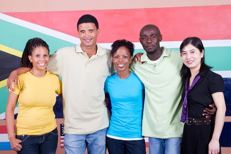 diverse young south africans photo