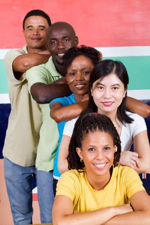 diverse men and woman of south africa photo