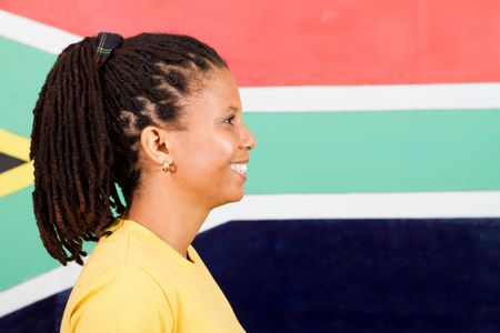 portrait of south african colored woman photo