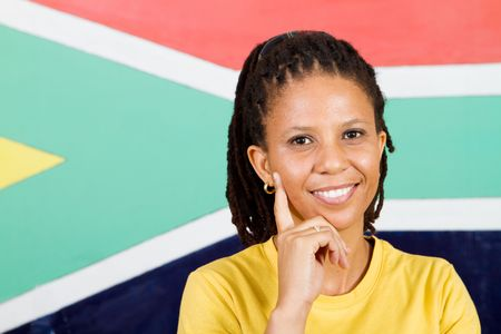 thoughtful south african woman photo