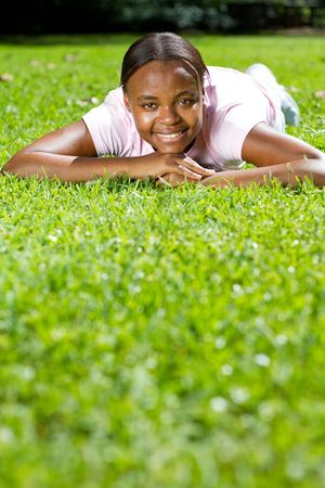 young african girl photo