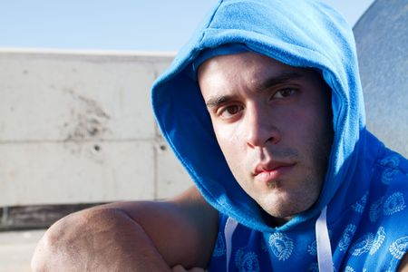 hip hop man: european hip hop man Stock Photo
