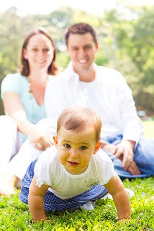 familiy: happy familiy in park