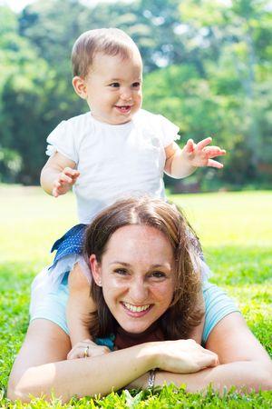 happy mom and baby Stock Photo - 6704519