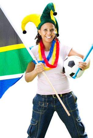 supporter: female south african sports supporter