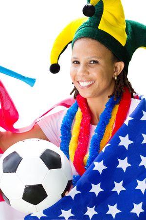 fanatical: pretty american football supporter