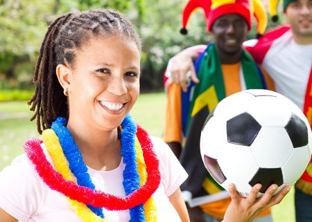 fandom: african soccer enthusiasts Stock Photo