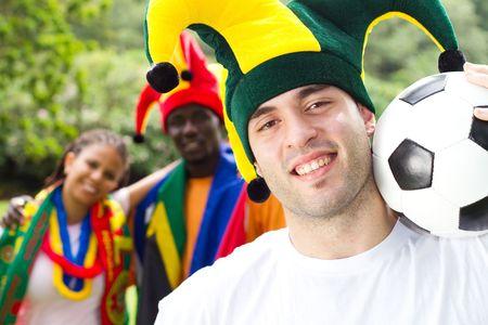 fandom: happy football supporters