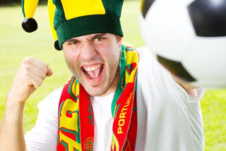 excited sports fan Stock Photo - 6783989