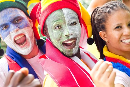 exuberant: football super fans