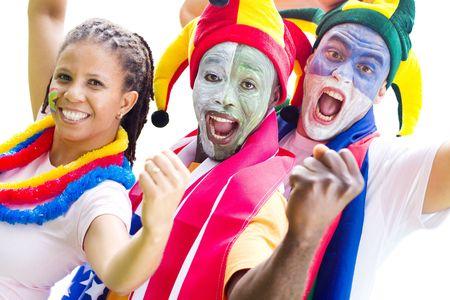 fandom: group of sports super fans