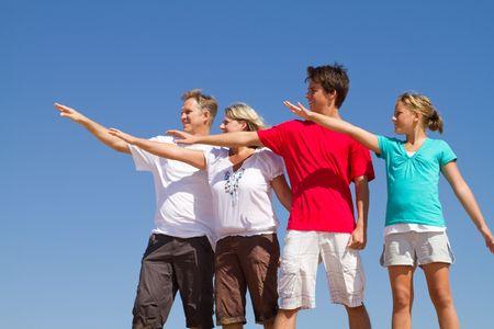 familiy: playful familiy on beach