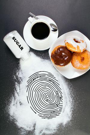 conceptual - junk food is a crime Stock Photo - 6855058