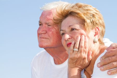 close-up of senior lovers outdoors Stock Photo - 6855378