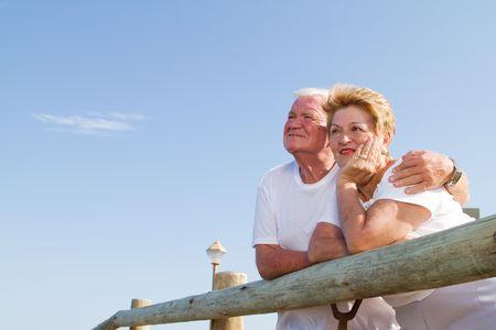 senior citizens outdoors photo