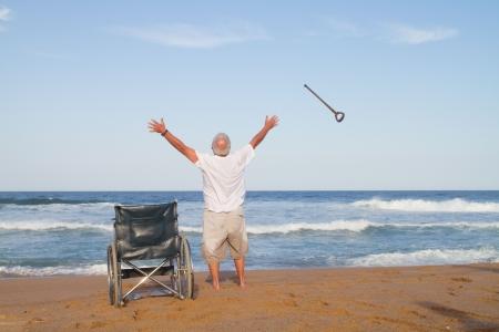 miraculeuze herstel van ziekte  Stockfoto