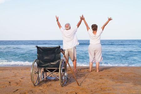 senior couple free from illness photo
