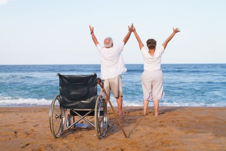 miracles: senior couple free from illness Stock Photo