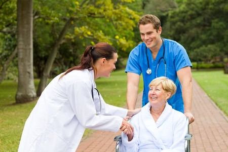 meet and greet: patient thanking young doctor