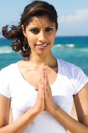 indian ocean: spiritual indian woman