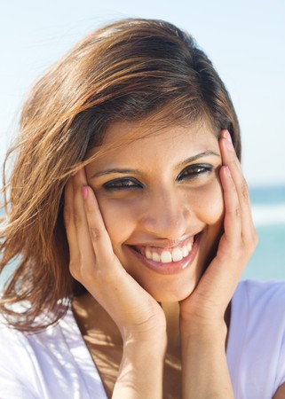 pretty young indian woman  photo