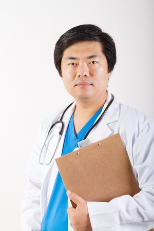 young male chinese doctor photo