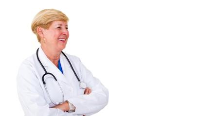 portrait of happy senior doctor photo