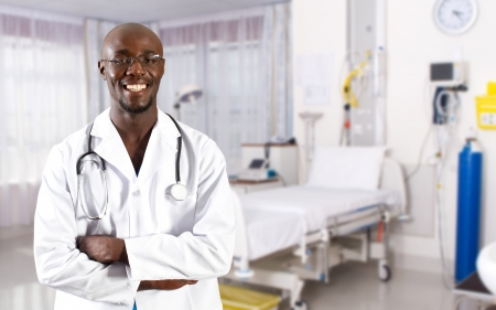 african doctor in hospital ward photo