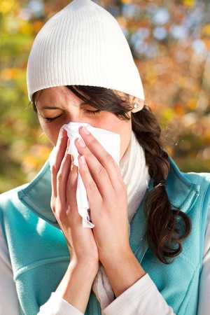 woman season change allergy Stock Photo - 7277238