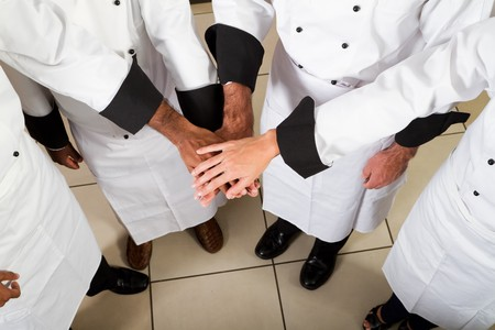 catering service: professional teamwork Stock Photo