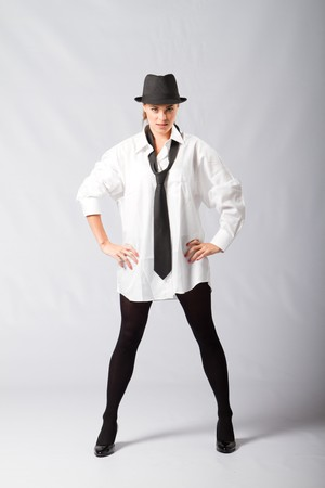 mens fashion: fashion model in mens clothing Stock Photo