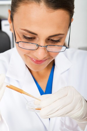 young science researcher in lab Stock Photo - 7517031