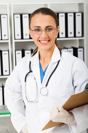 medical intern in office Stock Photo - 7517049