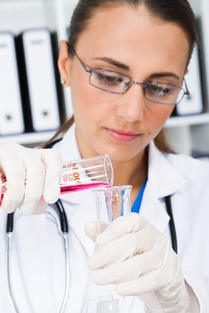 female lab technician Stock Photo - 7517033