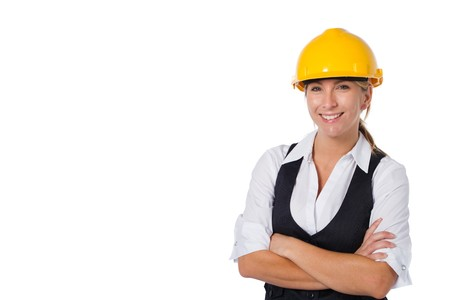female young architect Stock Photo