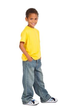 biracial: african american preteen boy Stock Photo
