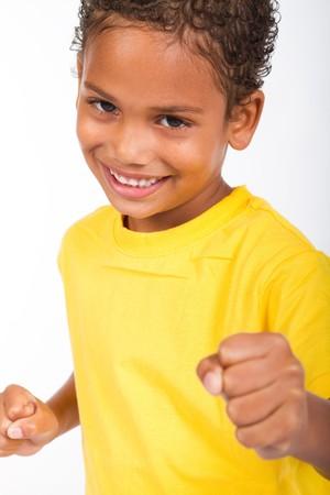spunky african american boy photo