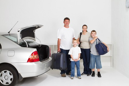 happy family on holiday roadtrip Stock Photo - 7608269