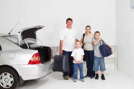 roadtrip: happy family on holiday roadtrip Stock Photo