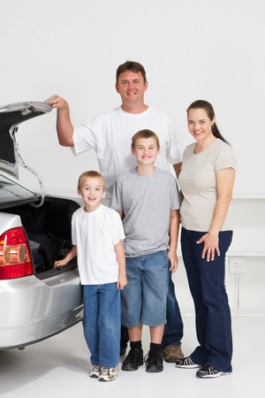 roadtrip: happy family going on holiday Stock Photo