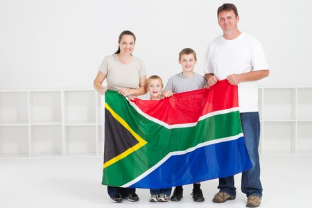 south african: happy young south african family
