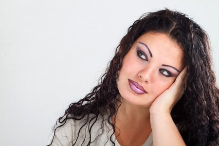 fedup: bored woman Stock Photo