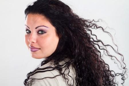 crimp: female plus size model Stock Photo