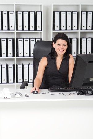 businesswoman in office Stock Photo - 7642599